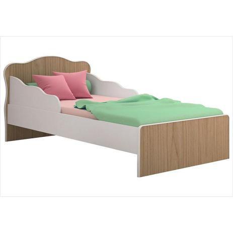 Mini cama Juvenil Qmovi Doce Sonho 849- Carvalho toque rustico/Branco