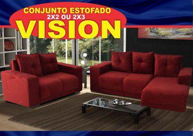 Sofa Vision Ricksa Moveis 2/3 lugares  com chaiser