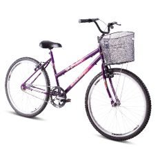 Bicicleta  Gool Bike Florença Aro 269 C/ Aero e Cesta- Violeta