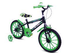 Bicicleta  Gool Bike Kid Boy Aro 16 infantil com rodinhas- Verde