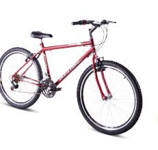 Bicicleta Gool Bike Turim  Adulto aro 26 com 18 marcha C/ Aero- Vermelha