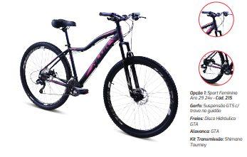 Bicicleta Gool Bike Sport Aro 29 Feminina 21 marcha quadro 15- Pink/Preto Alok