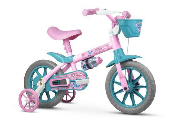 Bicicleta Nathor  Charm Infantil Aro 12 feminina- Vermelha/Amarelo