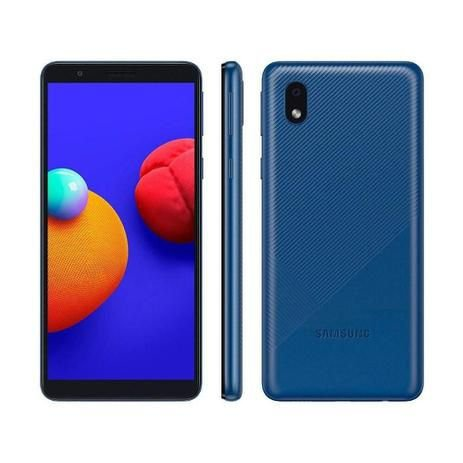 Smartphone Samsung Galaxy A01 Core Azul 32Gb Câmera Traseira 8MP SM-A013