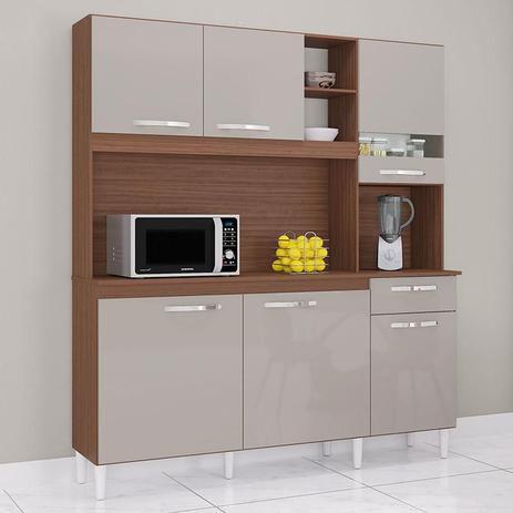 Armário Kit de cozinha Poquema barbara- Cappucino/ Off White