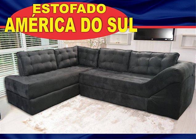 SOFA DE CANTO AMERICA DO SUL RICKSA MOVEIS