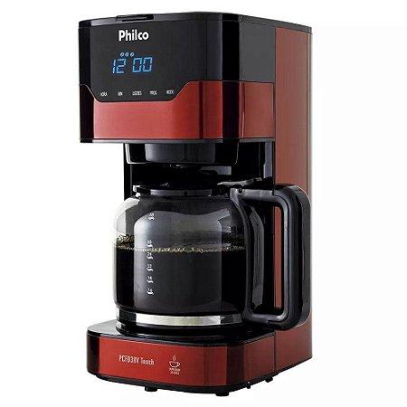 Cafeteira Philco PCFD38V Touch Vermelha 1,5L