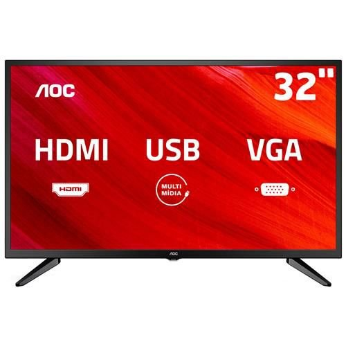 "TV LED 32"" AOC HD LE32M1475 com Conversor Digital Integrado, Entradas HDMI e Entrada USB"