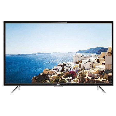 """Smart TV LED 55"""" TCL L55S4900FS Full HD 3 HDMI 2 USB Preta com Conversor Digital Integrado"""