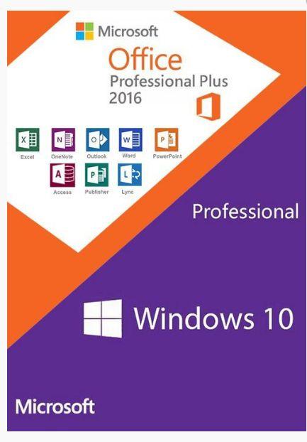 MICROSOFT WINDOWS 10 PRO + OFFICE 2016 PROFESSIONAL + NOTA FISCAL - ESD 32/64 BITS