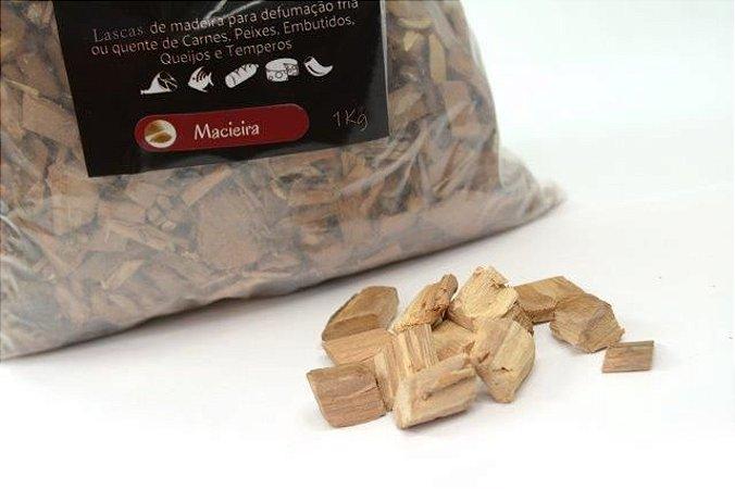 Lascas de Madeira para Defumação - Macieira 1kg)