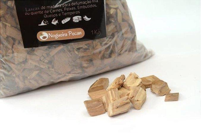 Lascas de Madeira para Defumação - Nogueira Pecan (1kg)