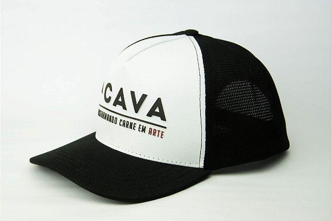 Boné Branco CAVA (Logo Horizontal)