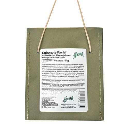 Sabonete Facial Antioxidante + Microesfoliante 45g - Hendrik