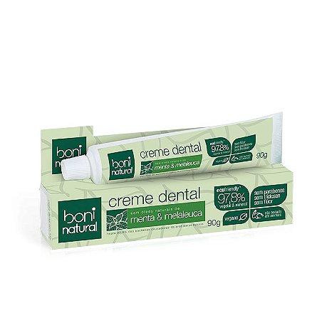 Creme Dental Sem Flúor Menta e Melaleuca 90g - Boni Natural
