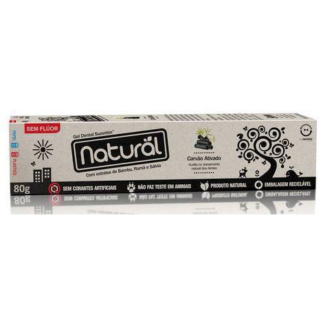 Gel Dental Natural Com Carvão Ativado 80g - Suavetex