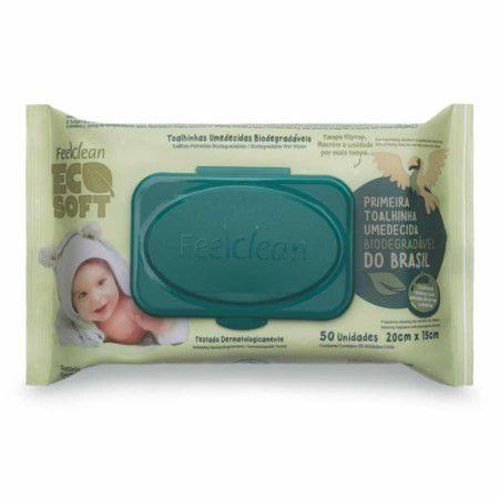 Toalhas Umedecidas Biodegradáveis Ecosoft 50 unid - FeelClean