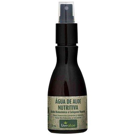 Água de Aloe Nutritiva com Ácido Hialurônico e Colágeno Vegetal 120ml - Livealoe
