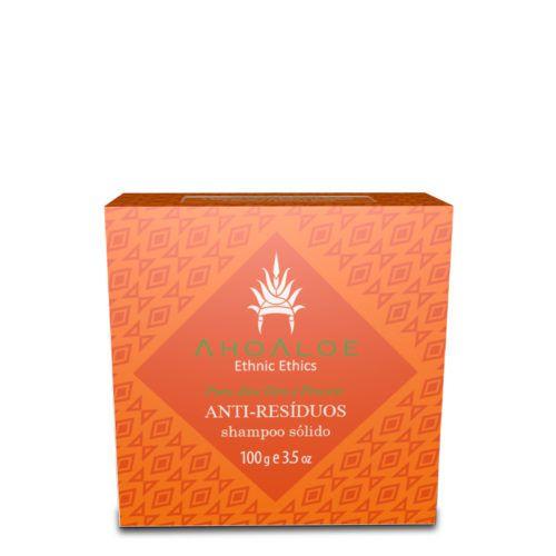 Shampoo Sólido Anti-Resíduos Aloe Vera e Pracaxi Orgânico 100g - Ahoaloe
