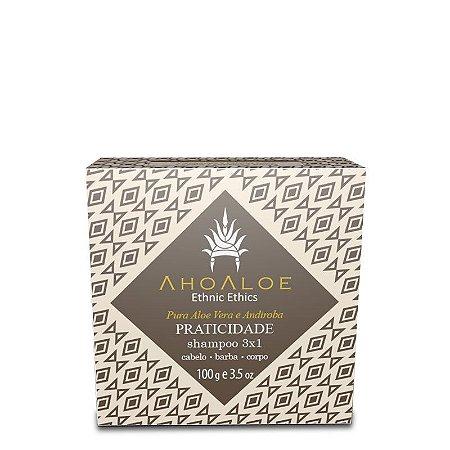 Shampoo Sólido 3x1 Praticidade 100g - Ahoaloe