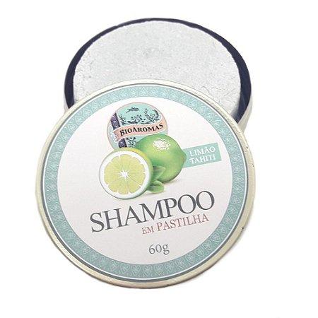 Shampoo em Pastilha Com  Limão Tahiti 60g - BioAromas