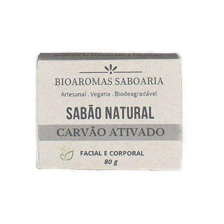 Sabão Facial e Corporal de Carvão Ativado 80g - BioAromas
