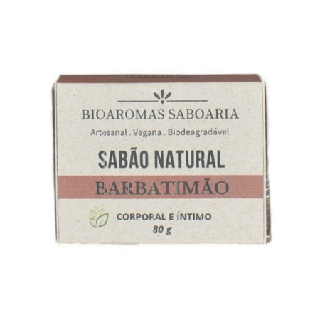 Sabão Íntimo de Banho Barbatimão 80g - BioAromas