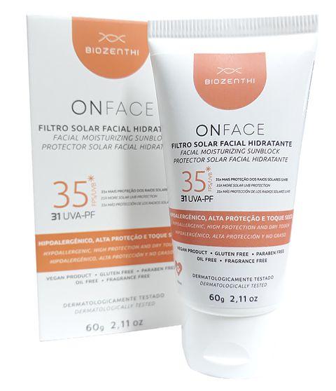 Filtro Solar Facial Hidratante FPS 35 Onface 60g - Biozenthi
