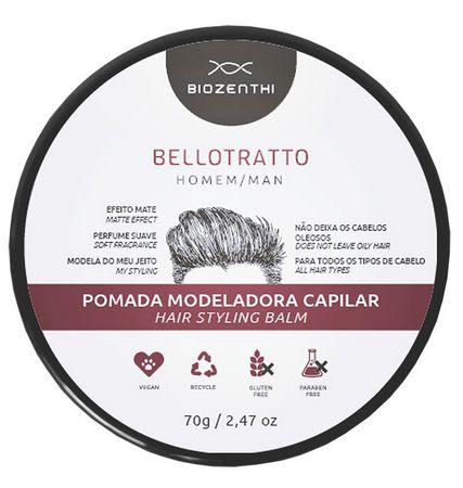 Pomada Modeladora Capilar Bellotratto 70g - Biozenthi