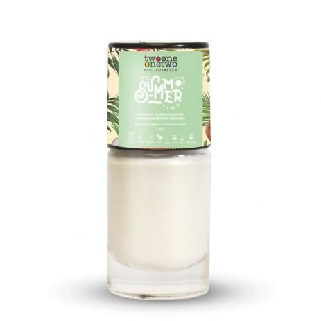 Esmalte Hipoalergênico It´s Summer Time White Shimmer (635) 10ml - Twoone Onetwo