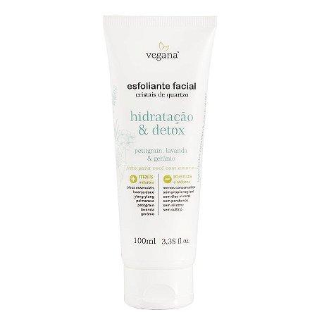 Esfoliante Facial Cristais de Quartzo Hidratação & Detox 100ml - Vegana WNF