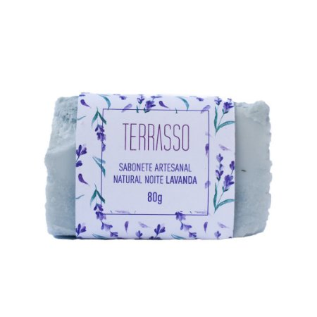 Sabonete Artesanal Natural Noite Lavanda 80g - Terrasso