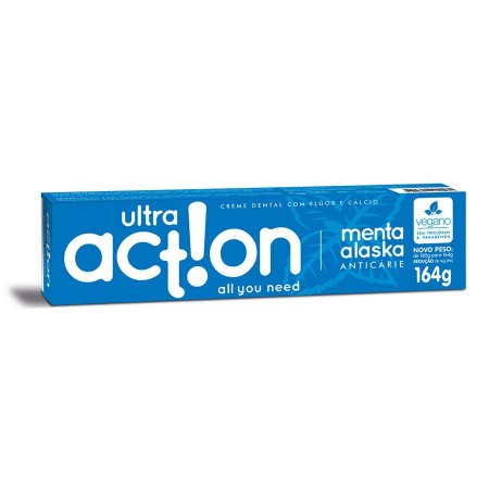 Creme Dental Menta Alaska 164g - Ultra Action