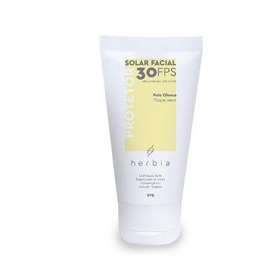 Protetor Solar Facial Natural Peles Oleosas 50gr - Herbia