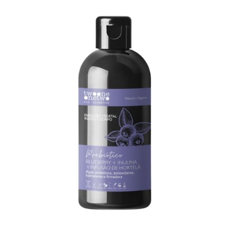 Emulsão Vegetal Blueberry, Inulina e Hortelã 250ml - Twoone Onetwo
