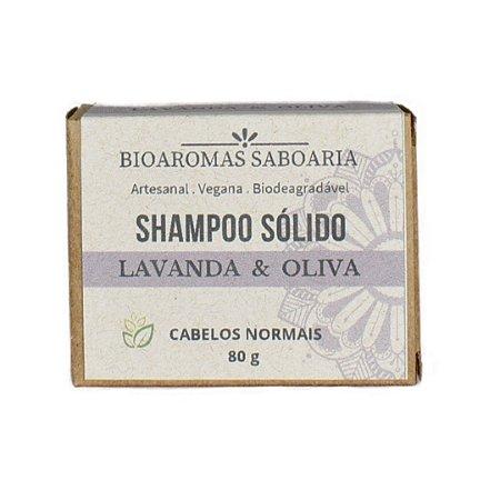 Shampoo Sólido Lavanda e Oliva 80g - Bioaromas