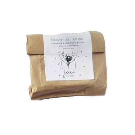 Sabonete e Shampoo Sólido Banho de Ervas 95g - Jaci Natural