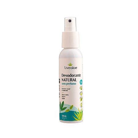 Desodorante Natural Sem Perfume 120ml - Livealoe