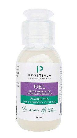 Álcool Gel 70º Lavanda e Melaleuca 60ml - Positiv.a