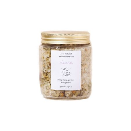 Sais Aromáticos Deusa (Gerânio, Ylang Ylang e Sal Grosso) 230g - Jaci Natural