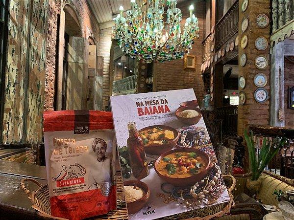 Kit Livro e Farofa de Tereza: 1 livro na mesa da Baiana e 1 Farofa Baianinha