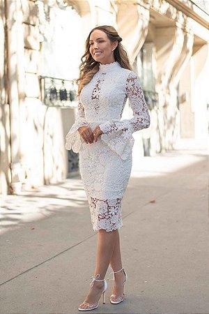 Vestido noivinha midi branco