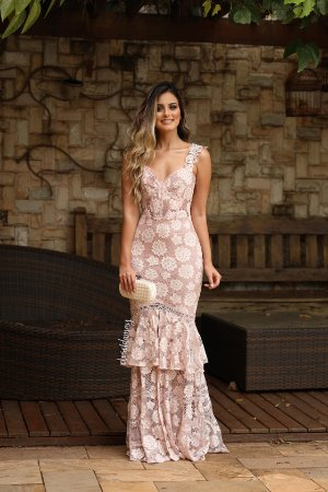 47266170b3d2 Vestido longo de renda | Closet da May - closetdamay loja de vestidos