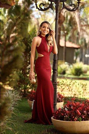 fc410cbb5 Vestido de festa longo com decote - closetdamay loja de vestidos
