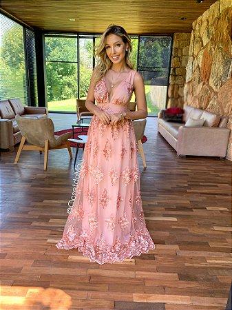 a26ff4284 Vestido de festa de renda e bordado | Closet da May - closetdamay ...