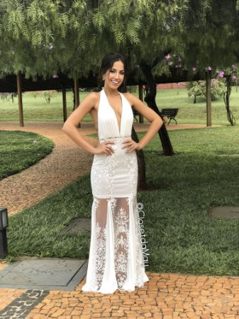 Vestido Longo Frente Unica Decote Baixo Vestido De Noiva Pre Wedding
