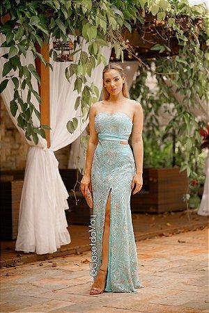 Vestido de festa tomara que caia bordado decote, festa de casamento, formatura, madrinha, aniversário