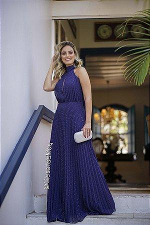 vestido de festa longo, plissado com poa, com faixa na cintura, para madrinhas, convidadas, formanda