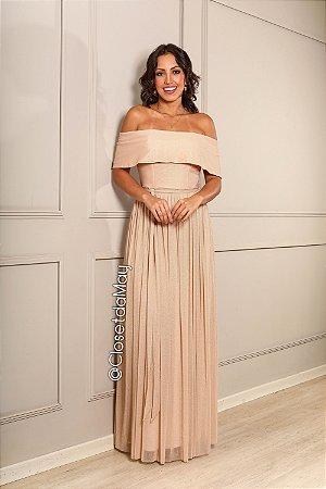 vestido de festa longo, ombro a ombro, com faixa, para madrinhas, convidadas, formanda