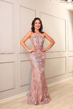 vestido de festa longo bordado em pedraria, sereia, com bojo, para madrinhas, formandas.